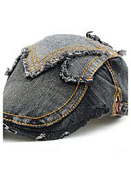 Unisex Women Men's Cotton Beret Hat Peaked Cap Vintage Casual Sports Summer All Seasons Brown/Grey/Blue/White/Yellow