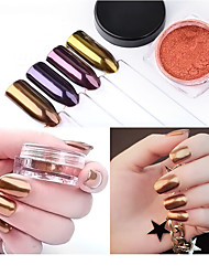 1 pc nail art the magic mirror powder tyrans locaux tyrans locaux or 2 g pack 4 couleurs