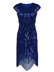 gaine / colonne bijoux cuisse asymétrique polyester cocktail robe de retour avec des pailletés