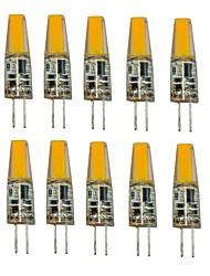 1.5W G4 Luminárias de LED  Duplo-Pin T 1 COB 250 lm Branco Quente Branco Frio Decorativa V 10 pçs
