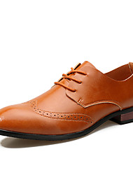 Men's Oxfords Spring Summer Formal Shoes Leather Wedding Office & Career Party & Evening Flat Heel  Walking Shoes