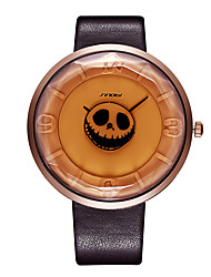 SINOBI Casual Skeleton Skull Watches for Men Women Halloween Hours Fashion Punk Watches Males Boy Quartz Wrist Watches Relojes