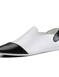 Для мужчин Мокасины и Свитер Удобная обувь сутулятся сапоги Полиуретан Весна Осень Повседневные Для прогулокУдобная обувь сутулятся