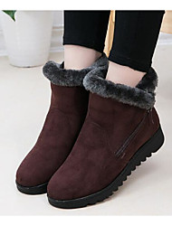 Women's Boots Spring Comfort PU Fabric Outdoor Casual Red Brown Black