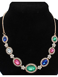 Exotic Female Bohemia Euramerican Africa Rainbow Hypoallergenic Statement Strands Collar Choker Necklaces