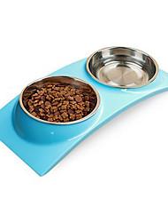 Gato Cachorro Tigelas e Bebedouros Animais de Estimação Tigelas e alimentação de animais Prova-de-Água Verde Azul Rosa claro