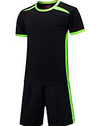 Men's Kid's Soccer Jersey + Shorts Breathable Summer Classic Polyester Football/Soccer
