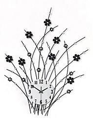 Moderno/Contemporáneo Floral/ Botánico Vacaciones Inspirador Familia Amigos Dibujos Animados Reloj de pared,Novedad Acrílico Metal