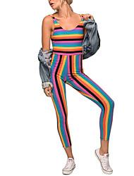 Femme Sexy simple Chic de Rue Taille Haute Sortie Décontracté / Quotidien Soirée Combinaison-pantalon,Mince Sexy Vacances Mode Dos Nu