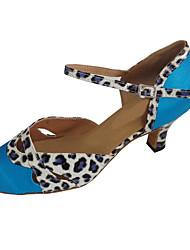 Chaussures de danse() -Personnalisables-Talon Personnalisé-Satin-Modernes