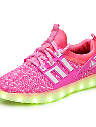 Boys' Sneakers Gladiator Light Up Shoes Tulle Summer Fall Casual Outdoor Office & Career Flat Heel Black Fuchsia Green Blue Blushing Pink