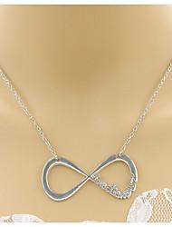 Femme Pendentif de collier Colliers chaînes Bijoux Forme de Triangle Infini AlliageBasique Original Pendant Stras Fleurs Naturel Amitié