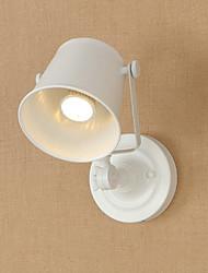 Qsgd ac220v-240v 4w e27 led свет нарисованная стальная стенная лампа тупой черный американский украшение кофе ретро настенный светильник