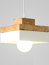 Northern Europe Simplicity Modern Wood Pendant Light Metal Living Room Dining Room Coffee Shop Bar Lighting