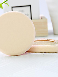 2 pcs Powder Puff/Beauty Blender Natural Sponges Round Quadrate Powder Liquid Cream