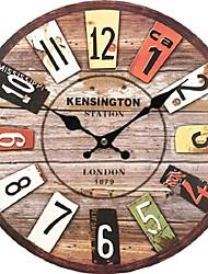 Tradicional Campestre Retro Casual Oficina/ Negocios Personajes Vacaciones Casas Inspirador Familia Festividades Religiosas Reloj de pared