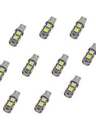 10pcs t10 9 * 5050 smd conduit voiture ampoule lumière blanche dc12v