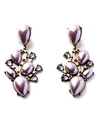 Boucles d'oreille goujon Cristal Personnalisé euroaméricains Forme Géométrique Blanc Rose Bonbon Bijoux Pour 1 paire