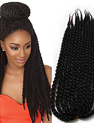 Ombre braided synthetic braiding 3D Cubic Twist synthetic Crochet Braids 22inch kanekalon Hair Crochet Twist Box Braids Hair 6-8pieces make full head