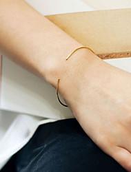 Femme Manchettes Bracelets Bijoux Mode Cuivre Forme de Cercle Or Argent Bijoux Pour Soirée Occasion spéciale 1pc