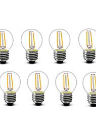 2W E14 E27 Ampoules à Filament LED G45 2 COB 200 lm Blanc Chaud Décorative AC220 AC230 AC240 V 8 pièces