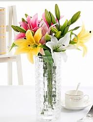 4.0 Une succursale Polyester Lis Fleur de Table Fleurs artificielles