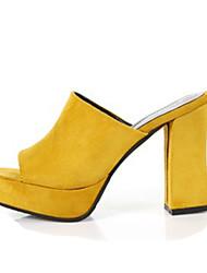 -Для женщин-Повседневный-Ткань-На толстом каблуке-Удобная обувь-Обувь на каблуках