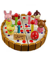 Pretend Play Toy Foods Circular Wood Children's