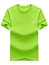 Homme Tee-shirt Pêche Respirable Eté Gris foncé Vert