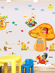 Animals Cartoon mushroom House Fashion Wall Stickers Plane Wall Stickers Children's Room Decorative Wall Stickers Home Decoration Wall Decal