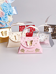 25pcs Handbag Wedding Favors Box Butterfly Candy Box Wedding Party Decoration For Gift Paper Box