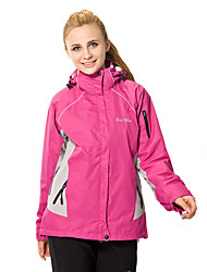 Women's 3-in-1 Jackets 5 Colors Waterproof Breathable Thermal / Warm Windproof Fleece Lining Winter Jackets