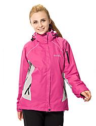 Femme Anorak 3 en 1 Ski Camping / Randonnée Pêche Sports de neige MotoEtanche Respirable Garder au chaud Pare-vent Doublure Polaire