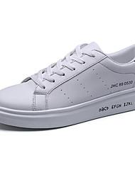 Da uomo-Sneakers-Casual-pattini delle coppie ComodaPU (Poliuretano)-Bianco Bianco/nero