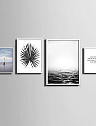 E-HOME® Framed Canvas Art   Simple Sea And Plant Series (1) Theme Series Framed Canvas Print One Pcs
