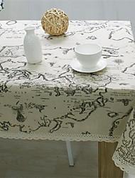 Rectangulaire Avec motifs Nappes de table , Lin Matériel Tableau Dceoration Dîner Décor Favor Déco d'Intérieur 1