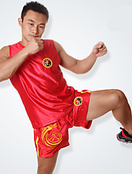 A Wolf Embroidered Dragon Suit Dress Clothing Boxing Shorts Sanda Muay Thai Martial Arts