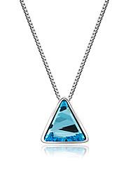 Femme Pendentif de collier Cristal Forme de Triangle Cristal AlliageOriginal Logo Pendant Vintage Personnalisé Thérapie Magnétique Double
