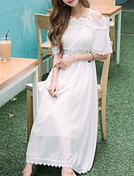 Una Sola Pieza/Vestidos Lolita Clásica y Tradicional Inspiración Vintage Elegant Princesa Cosplay Vestido  de Lolita BlancoUn Color