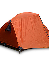 3-4 persons Tent Double Fold Tent One Room Camping Tent >3000mm Fiberglass Oxford Waterproof Portable-Hiking Camping-