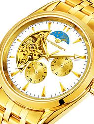 Men's Fashion Watch Mechanical Watch Chinese Quartz Alloy Band Gold