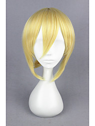 Short straight love live! -ayasei eli gold synthétique 14inch anime cosplay perruque cs-181d