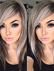 20Capless Ash Brown Wig Cute Fashion Synthetic Wig For Women Costume Wigs Cosplay Wigs