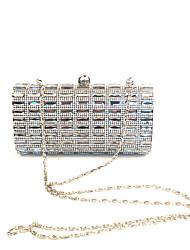 Women Shining Glass Stone Clutches Evening Bag