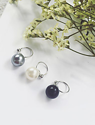 Clip Earrings Imitation Pearl Euramerican Fashion Alloy Round Jewelry For Daily 1 piece