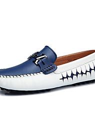 Hombre Calzado de Barco Confort Zapatos De Buceo PU Primavera Verano Casual Fiesta y Noche Paseo Confort Zapatos De BuceoNegro Azul