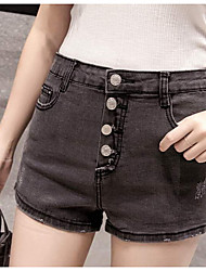 Women's High Rise Micro-elastic Jeans Pants,Street chic Loose Pure Color Solid