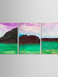 Canvas Set Abstract Landscape Classic European Style,Three Panels Canvas Vertical Print Wall Decor For Home Decoration