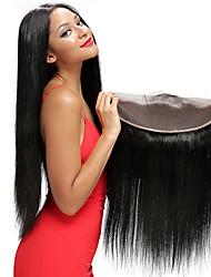 14inch braizlian fermeture frontale en dentelle droite meilleures fermetures de cheveux humains vierges fermeture sans brazilian / milieu