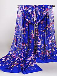 Womens Fashion Chiffon Small Flowers  Floral Print Scarfs 160*50CM